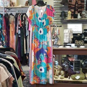 New trina turk silk dress 8